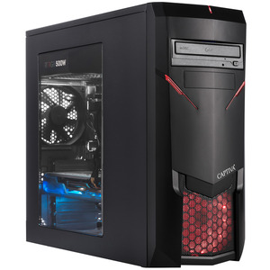 CAPTIVA G12AG 19V3 , Gaming PC mit Ryzen 7 Prozessor, 16 GB RAM, 960 GB SSD, GTX1660Ti 6GB, 6 GB