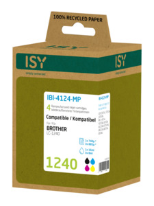 ISY IBI-4124-MP Tintenpatrone wiederaufbereitete Tintenpatrone 1240 Mehrfarbig