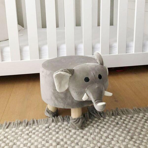 Deko-Hocker Elefant mit 4 Beinen 28x35x40cm