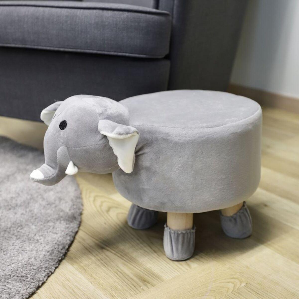 Bild 2 von Deko-Hocker Elefant mit 4 Beinen 28x35x40cm