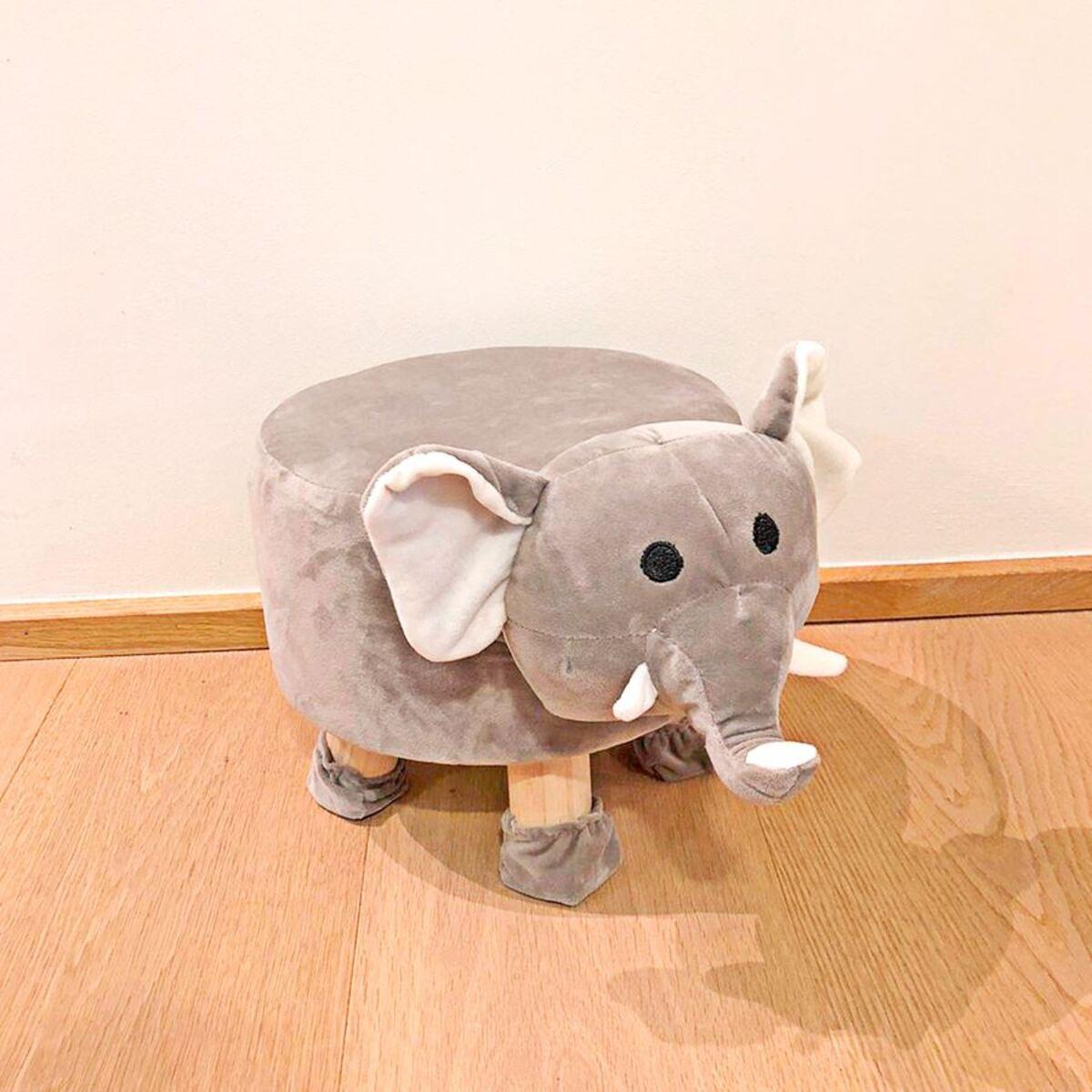 Bild 3 von Deko-Hocker Elefant mit 4 Beinen 28x35x40cm