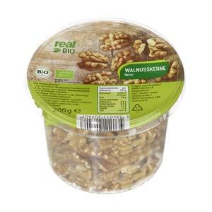 real Bio Nüsse, versch. Sorten, z.B. Walnusskerne 200 g oder Mandeln 275 g, jeder Becher ab