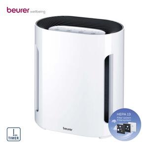 Luftreiniger LR 210 · für Räume bis 26 m² · 3 Leistungsstufen · dreischichtiges Filtersystem: Vorfilter - Aktivkohlefilter - HEPA-Filter H13 · Maße: H 30,0 x B 27,3 x T 17,5 cm