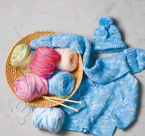 Baby Handstrickgarn Farbverlauf
