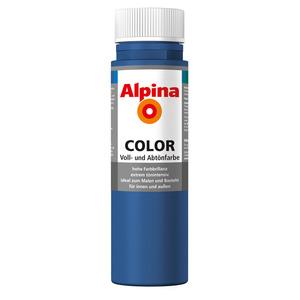 Alpina Color Voll- und Abtönfarbe 'Mystery Blue' seidenmatt 250 ml