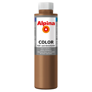 Alpina Color Voll- und Abtönfarbe 'Candy Brown' seidenmatt 750 ml