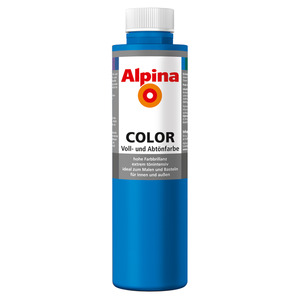Alpina Color Voll- und Abtönfarbe 'Royal Blue' seidenmatt 750 ml