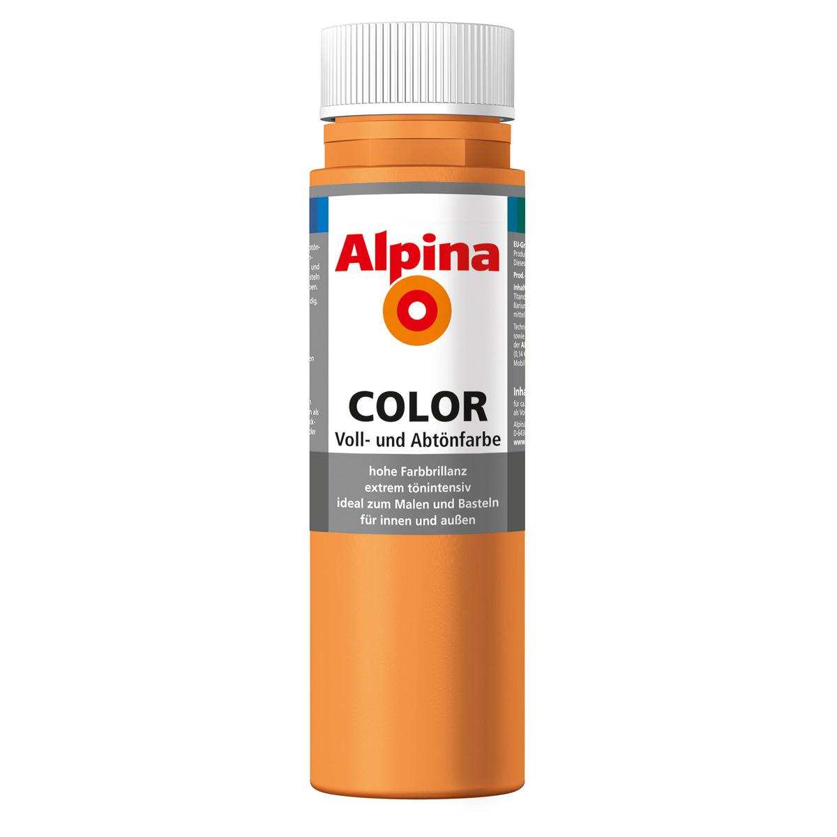 Bild 1 von Alpina Color Voll- und Abtönfarbe 'Fresh Orange' seidenmatt 250 ml