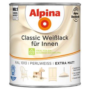 Alpina Classic Weißlack für Innen, perlweiß, extra matt, 750 ml