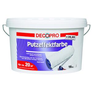 DecoPro Putzeffektfarbe weiß matt