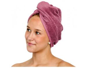 2er-Pack Wellness Turban mauve 25 x 60 cm