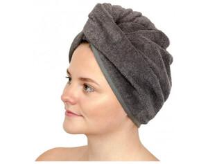 2er-Pack Wellness Turban graphit 25 x 60 cm