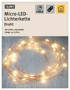 Micro-LED-Lichterkette Draht kupfer