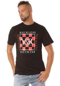 Young and Reckless Checker Block - T-Shirt für Herren - Schwarz