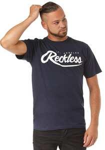 Young and Reckless Big R Script - T-Shirt für Herren - Blau