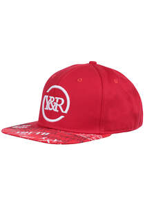 Young and Reckless Square Logo Griffon Snapback Cap - Rot