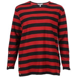 Große Größen Sweatshirt im Blockstreifenlook