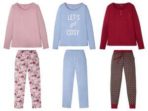 ESMARA® Pyjama Damen, mit reiner Bio-Baumwolle