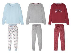ESMARA® Pyjama Damen, mit Aufnäher, mit Baumwolle