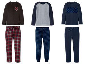 LIVERGY® Fleece Pyjama Herren, mit Gummizugbund