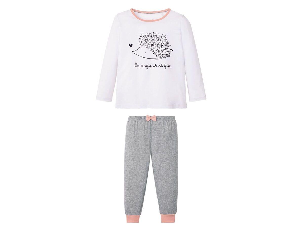 Bild 2 von LUPILU® Kleinkinder Pyjama Mädchen, mit Schleifenapplikation, mit Baumwolle