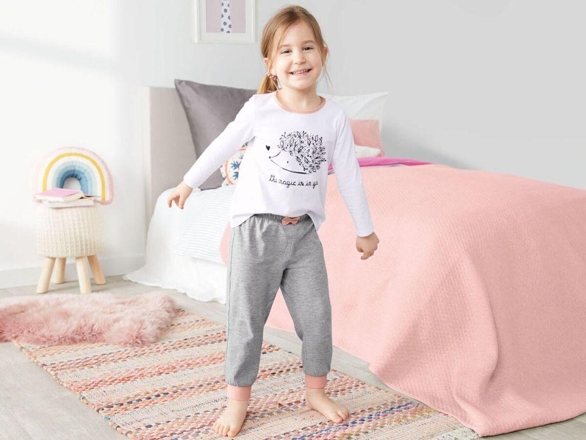 Bild 3 von LUPILU® Kleinkinder Pyjama Mädchen, mit Schleifenapplikation, mit Baumwolle