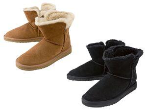 ESMARA® Stiefel Damen, mit Lammfell-Futter, Veloursleder