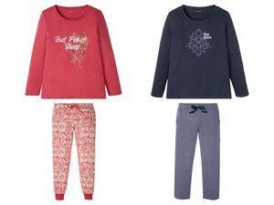 ESMARA® Pyjama Damen, mit Print, aus reiner Baumwolle