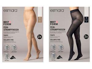 ESMARA® Strumpfhosen Damen, 2 Paar, mit Laufmaschenstopp