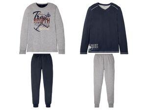 LIVERGY® Pyjama Herren, mit Gummizugbund