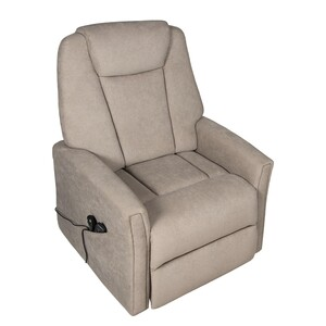 home24 Duo Collection Relaxsessel Montry Schlamm Microfaser mit Relaxfunktion/Massagefunktion/Aufstehhilfe 80x114x91 cm (BxHxT)