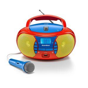 Karcher RR 5026 tragbares CD Radio (CD-Player, UKW Radio, USB & Mikrofon)