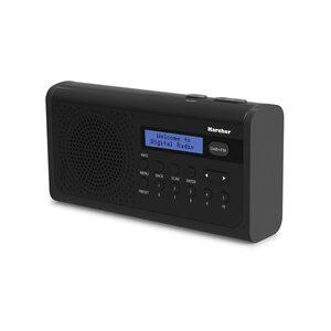 Karcher DAB 2405 tragbares Digitalradio (DAB+/UKW Tuner, 20 Senderspeicher)