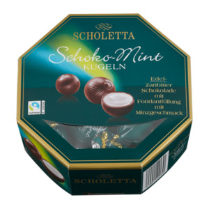 SCHOLETTA  	   				Schoko-Mint Kugeln, Fairtrade