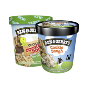 Ben & Jerry's Ice Cream, auch Vegan oder Breyers Eis