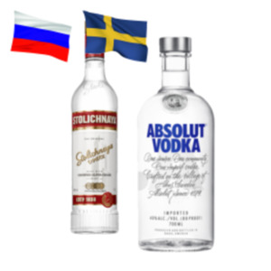 Absolut Vodka oder Stolichnaya Vodka
