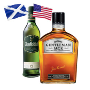 Jack Daniels Gentleman Jack Whiskey oder Glenfiddich 12 Jahre Scotch Whisky