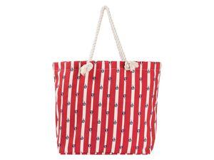 ESMARA® Strandtasche/ Seesack, mit Reißverschluss, geräumiges Hauptfach, Innentasche