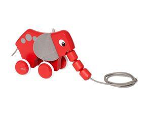 BRIO 30186 »Nachzieh-Elefant«, klassisches Nachziehspielzeug, ab 1 Jahr