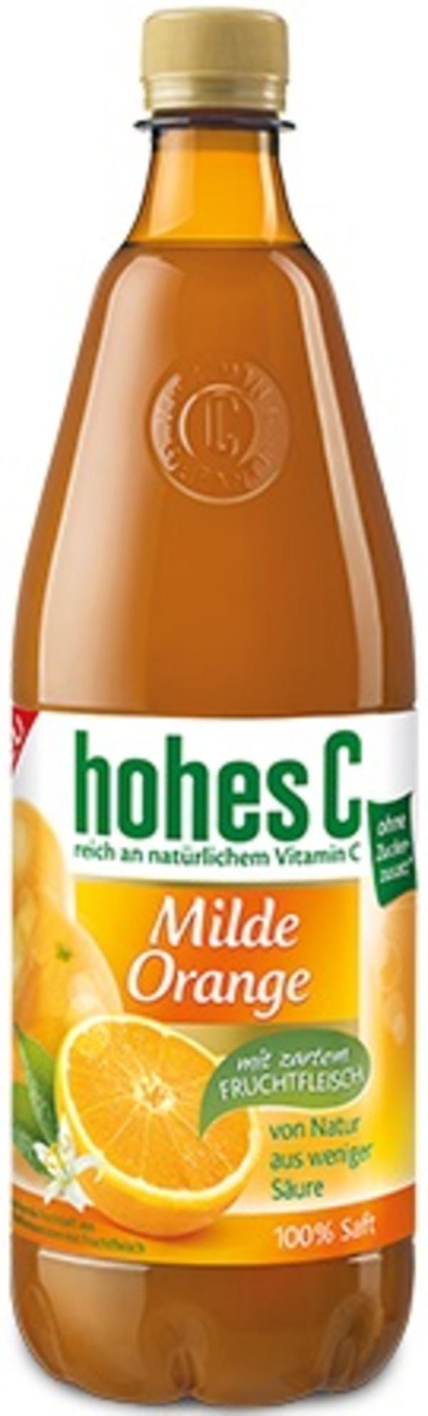 Hohes C Milde Orange mit Fruchtfleisch PET 1 ltr