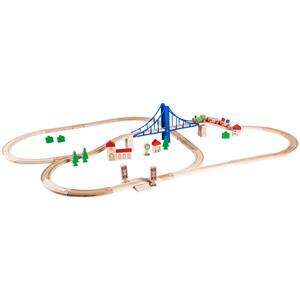 Eichhorn Holzeisenbahn-Set, 55 Teile