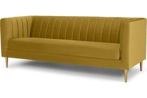 Amicie 3-Sitzer Sofa, Samt in Vintage-Gold - MADE.com