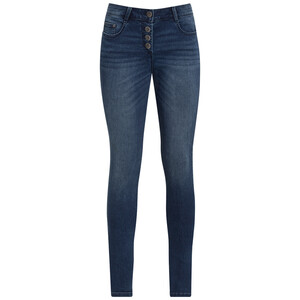 Damen Slim Jeans mit Knopfleiste
