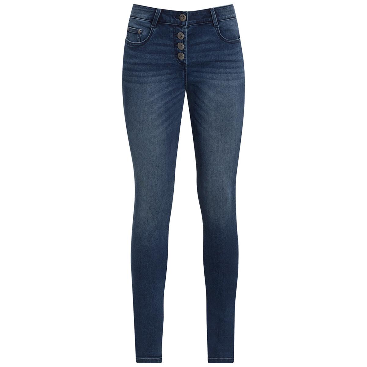 Bild 1 von Damen Slim Jeans mit Knopfleiste
