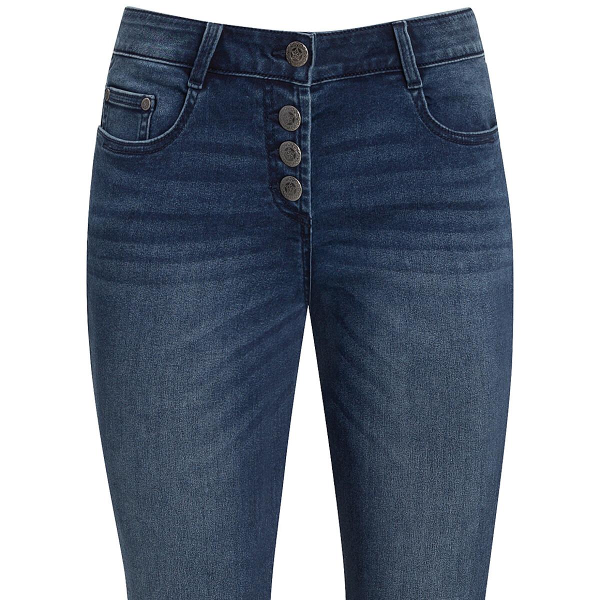 Bild 3 von Damen Slim Jeans mit Knopfleiste