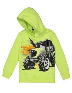 Jungen Hoodie mit Traktor-Print