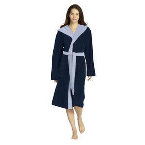 Vossen Bademantel dunkelblau , 8009/5148 Poppy , Textil , Frottee , Taschen, besonders flauschig, modische Optik , 003355014204
