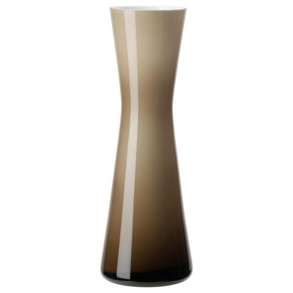 Leonardo Vase 18 cm , 034881 , Weiß, Beige , Glas , 18 cm , handgemacht, zum Stellen , 003813042802