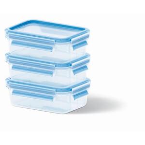 Emsa Vorratsdosenset 3-teilig , 508570 , Blau, Transparent , Kunststoff , 0,55 L , auslaufsicher, Skalierung , 0032621187