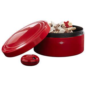 Wesco Gebäckdose inkl. timer , 324498-02V , Rot , Metall , 25x13x25 cm , pulverbeschichtet,pulverbeschichtet , 003578007701